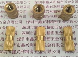 大量销售 滚花铜螺母 铜花母 注塑螺母 铜镶件