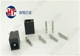 AC-DC电源连接器铜针H65铜端子八字尾铆压圆针2.35实心插针PIN针