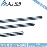海盐厂家直销 M10 3米非标 国标镀锌丝杆 全牙通丝 建材市场批发