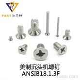 美制沉頭機螺釘 ANSIB18.1