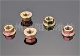 六角法兰螺帽防滑螺母碳钢Q215法兰螺母 花齿螺自锁防松帽