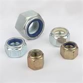 DIN985尼龙螺母/六角非金属锁紧螺母/防松自锁螺母M8厂家直销