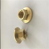 专业生产六角面光洁、平整、丝丝入扣的M3-M12法兰面铜螺母、量大含物流运费。