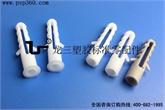 龙三厂家供应塑料膨胀螺丝6mm鱼型壁虎塑料膨胀胶塞配M4自攻螺丝
