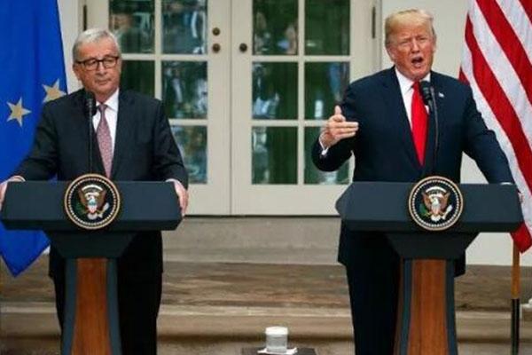 """注意!美国欧盟就""""贸易战""""达成协议"""