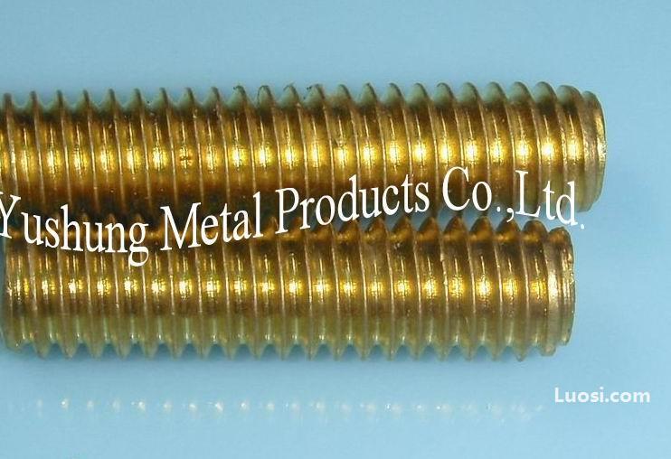 铜螺柱 铜牙条 黄铜全牙螺杆1/2-13UNC x 72