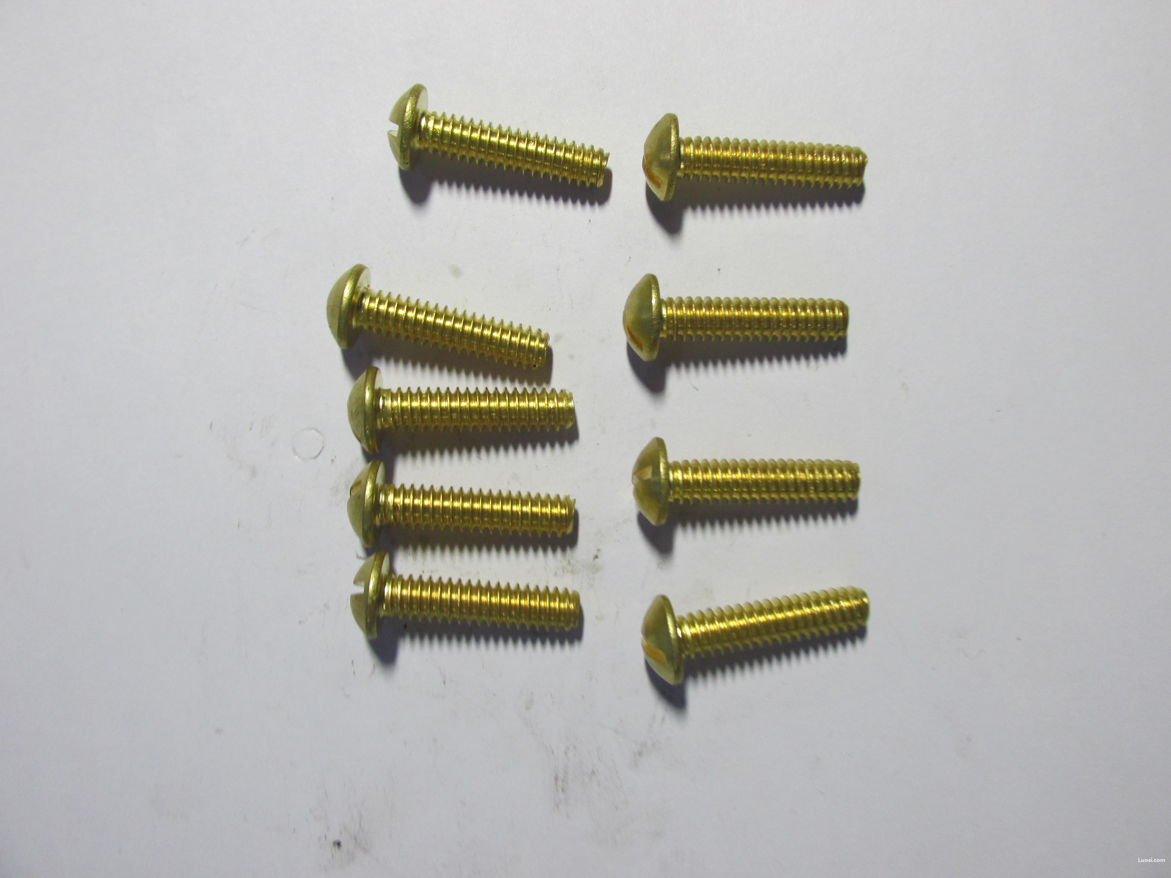 专业生产GB 67铜一字 开槽盘头螺钉1000只批订,量大价优。
