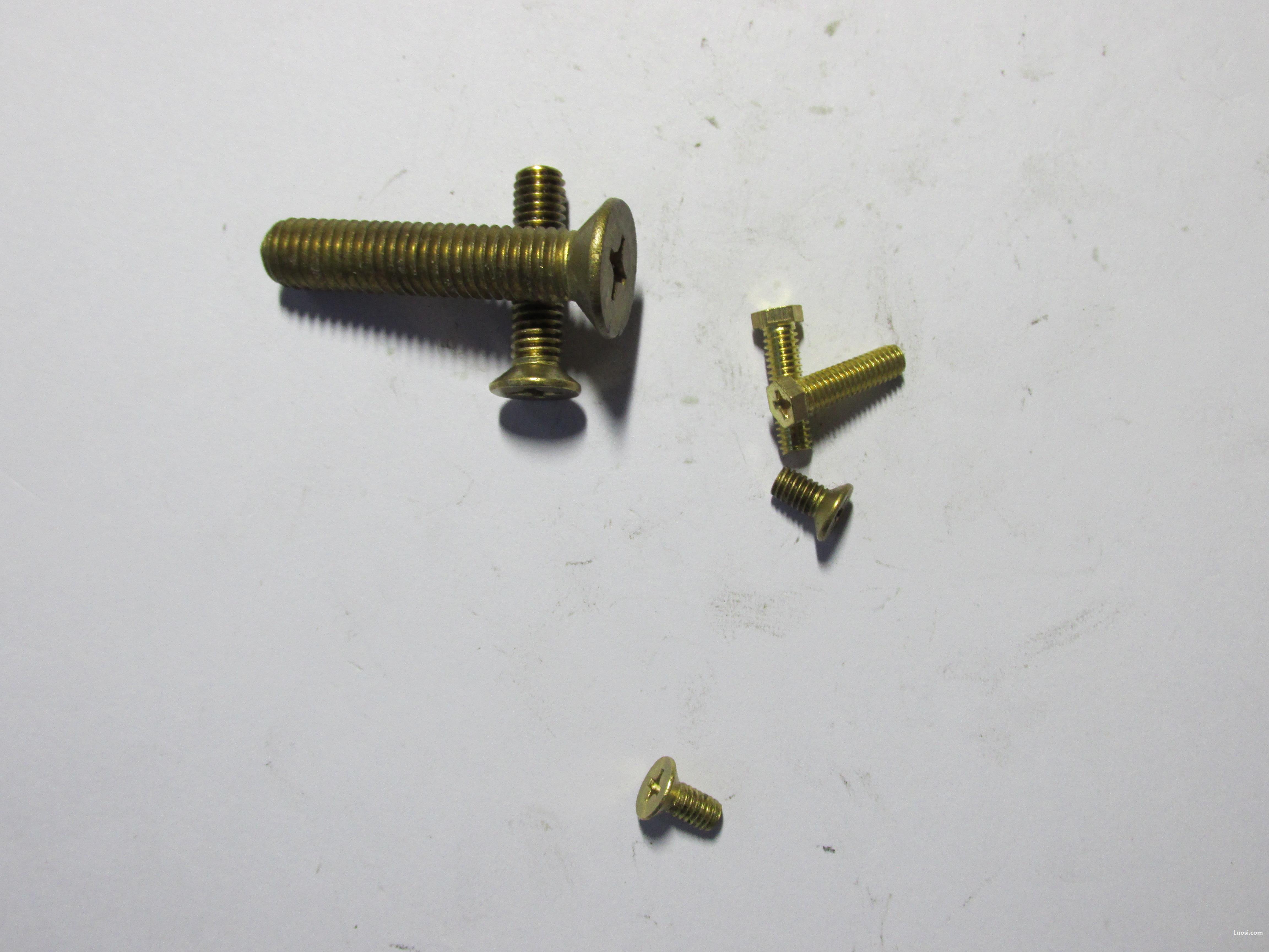 专业生产GB 819铜 十字槽沉头螺钉(H型槽)1000只批订,量大价优。