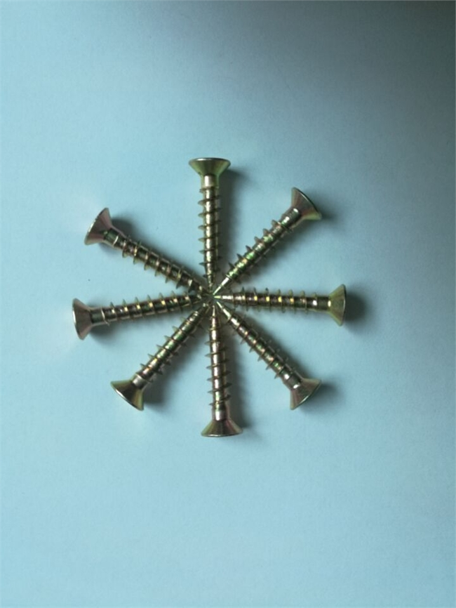 华人螺丝网螺丝供应纤维板钉墙板钉高强度家具螺丝彩十字沉头